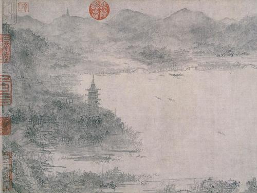 李嵩款《西湖图》局部,上海博物馆