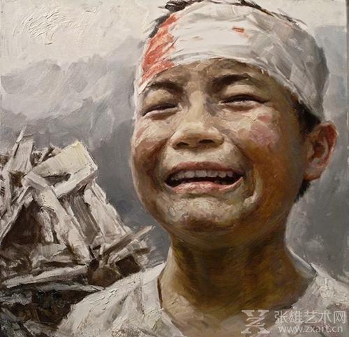 李自健油画《痛》