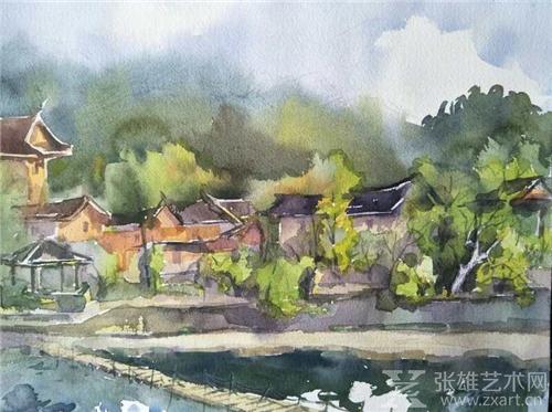 """闽南油画院""""海峡两岸著名画家——云水谣写生活动""""圆满成功"""