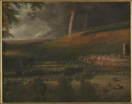 泰晤士河畔的亨利镇,彩虹风景 扬•希伯瑞兹 (1627-约1700) 约作于1690年 布面油画 泰特:1967年泰特美术馆之友赠送 Landscape with Rainbow, Henley-on-Thames Jan Siberechts (1627- c.1700) c.1690 Oil on canvas Tate: Presented by...