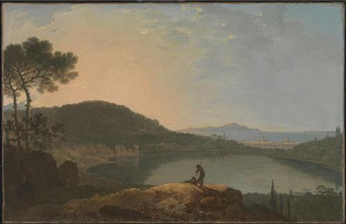 阿佛纳斯湖和卡普里岛 理查德•威尔逊(1713-1782) 约1760年 布面油画 泰特:1847年罗伯特•弗农赠送 Lake Avernus and the Island of Capri Richard Wilson (1713-1782) c.1760 Oil on canvas Tate: Presented by Robert Vernon 1847