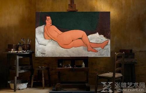 《向左侧卧的裸女》