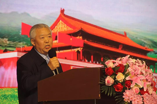 大赛总顾问原西藏日客则军分区副司令员、现任西藏自治区生态建设与环境保护基金会常务副会长、中国文化艺术人才库总顾问谭戎生致辞