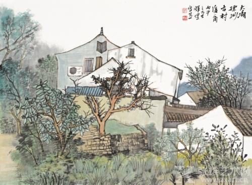 《西蔡村后菜园与杂树》39cm×53cm 卡纸 2016年作