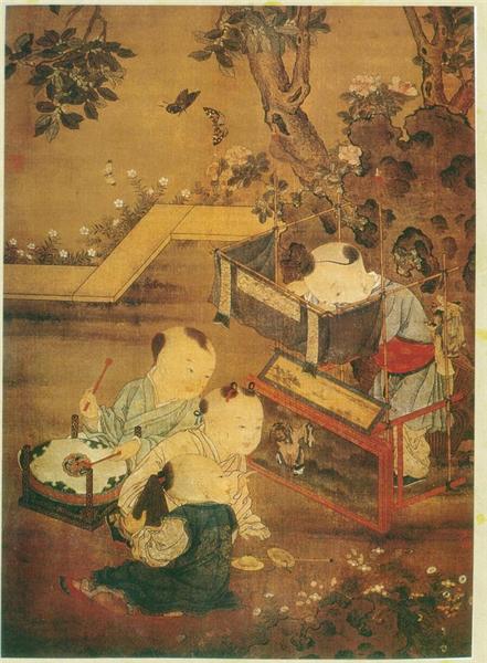 《傀儡婴戏图》 南宋 刘松年