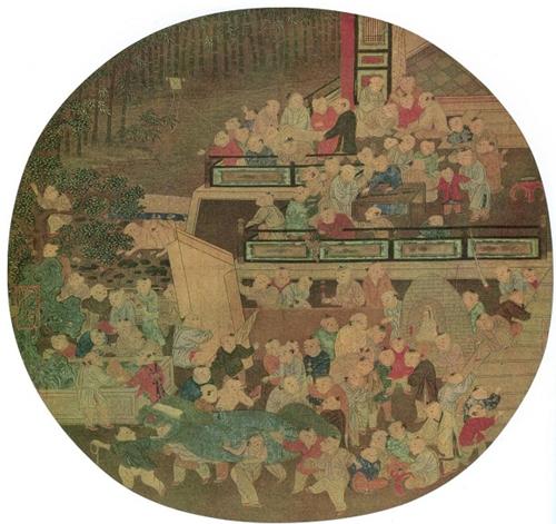 《百子戏春图》北宋 苏汉臣