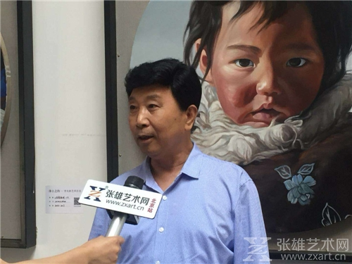 艺术家杨秋立接受采访