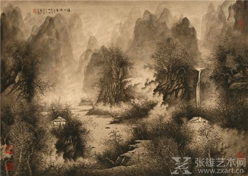 廖文潭精笔山水画