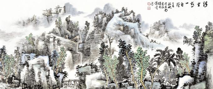 当代山水画家郑辉煌:回归自然,物我相忘