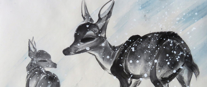 郭少军的水墨一绝——仙姿灵动梅花鹿