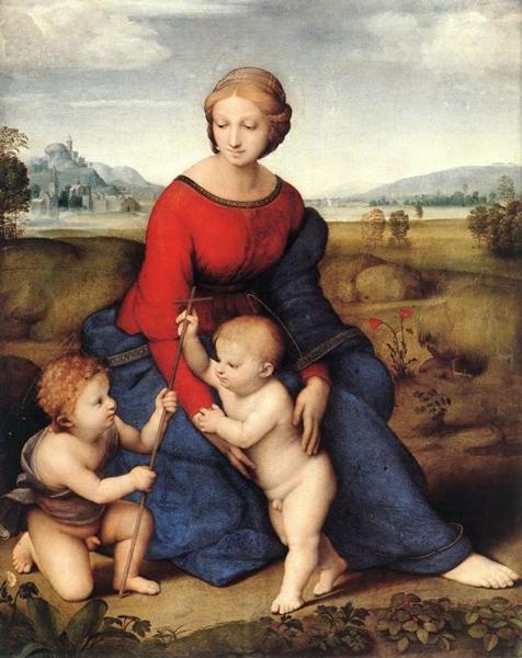《草地上的圣母》 拉斐尔