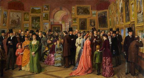威廉·鲍威尔·弗里斯《皇家学院预展》1881,1883.