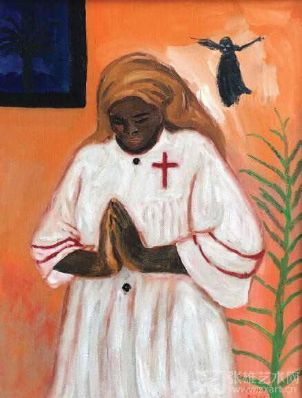 少女祈祷 50x65cm 布面油彩 2016