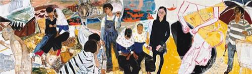 戴士和  惠安行  布面油画  150X500cm  2016年