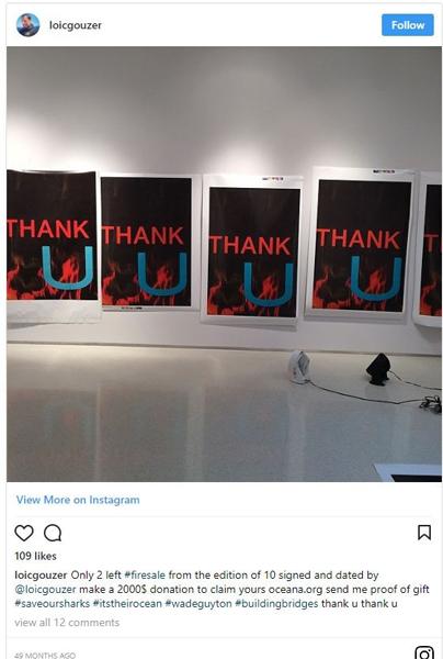 古泽的Instagram截图。图片:via Instagram