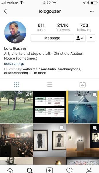 古泽的Instagram截图。图片:Andrew Goldstein