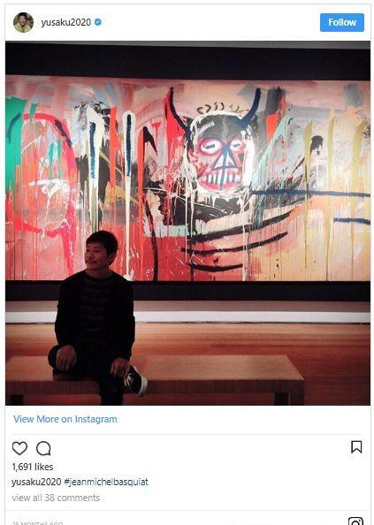 前泽友作Instagram截图。图片:via Instagram