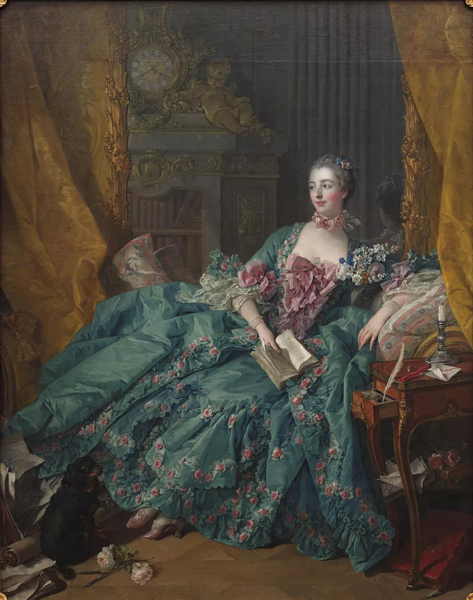 布歇《蓬巴杜夫人肖像》