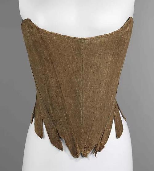 紧身胸衣,18世纪上半叶,藏于美国大都会博物馆