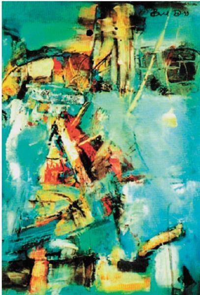 Do.Bold 构成 50×70cm 布面油画 1986年