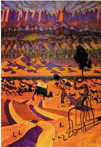 B.Chaogsom 戈壁 布面油画 1968年 蒙古国国家美术馆
