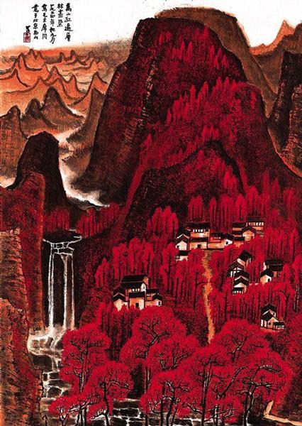 2012年,李可染《万山红遍》在北京保利拍卖以2.9325亿元人民币成交