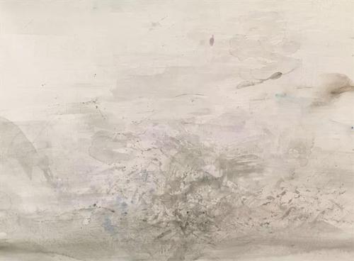 赵无极(中国/法国,1920-2013) 《无题》 水彩 纸本 54.5 x 74.2 cm. 1961年作  估价:人民币 600,000 - 800,000 成交价:人民币 720,000