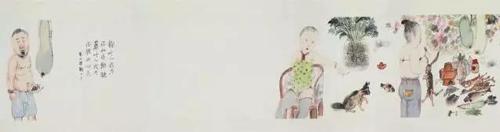 李津 (中国,1958年生) 《两只蝴蝶》  彩墨 纸本 51.8 × 1389.2 cm.  2006 年作  估价:人民币 1,200,000 - 2,200,000 成交价:人民币 5,970,000