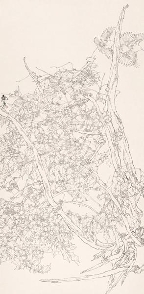 《春光图》200×97cm 纸本  2000