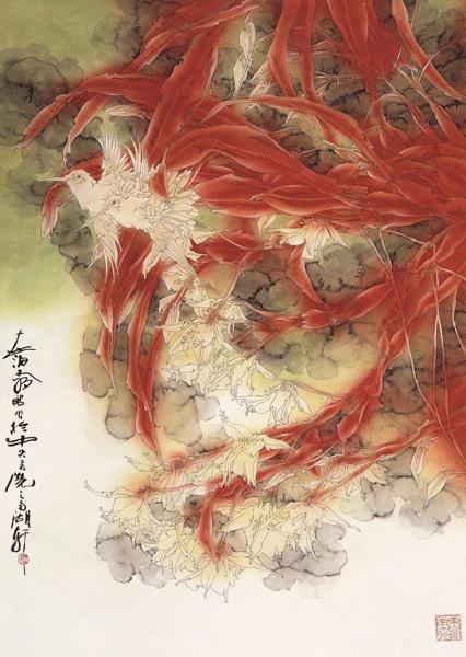 《骄阳之二》66×90cm 纸本设色  2010