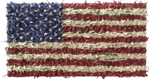 大卫·科尔(David Cole),《美国国旗(玩具士兵#12)》(2002)。图片:Courtesy of the RISD Museum