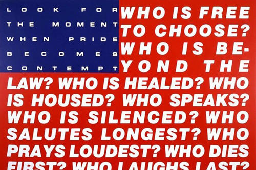 巴巴拉·克鲁格(Barbara Kruger),《无题(问题66)》(1991)。图片:Courtesy of Mary Boone Gallery