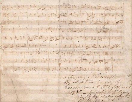 304.75万!莫扎特原稿创国内西方音乐家手稿拍卖纪录