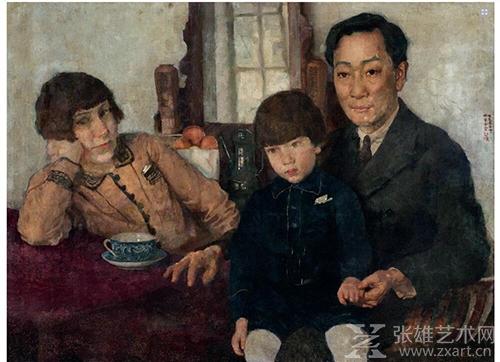 徐悲鸿油画《杨仲子全家福》 成交价:1932万元(人民币)