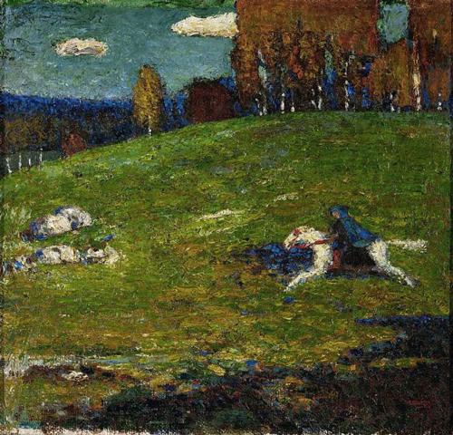 Wassily Kandinsky:Der Blaue Reiter,1903
