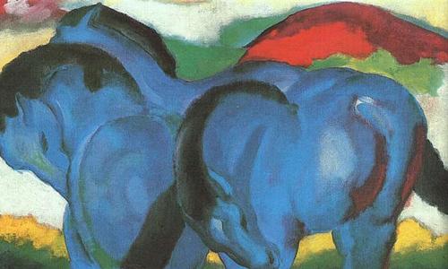Die kleinen blauen Pferde, The Little Blue Horses (1911) Staatsgalerie Stuttgart