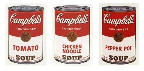 ▲安迪·沃霍尔设计的金宝汤罐头