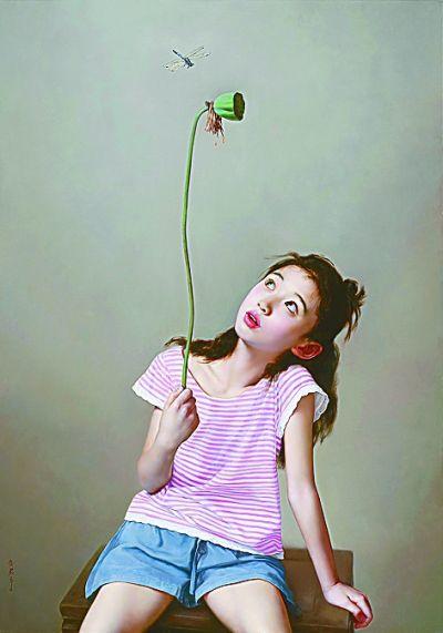 蜻蜓(油画) 李贵君