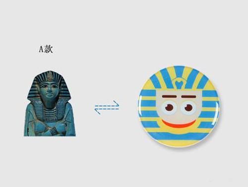 大英博物馆 埃及风伸缩气囊手机扣支架 多功能抖音神器指环扣