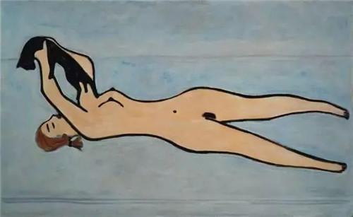 裸女戏猫,1950年代