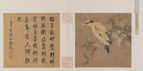 宋 榴枝黄鸟图页 故宫博物院