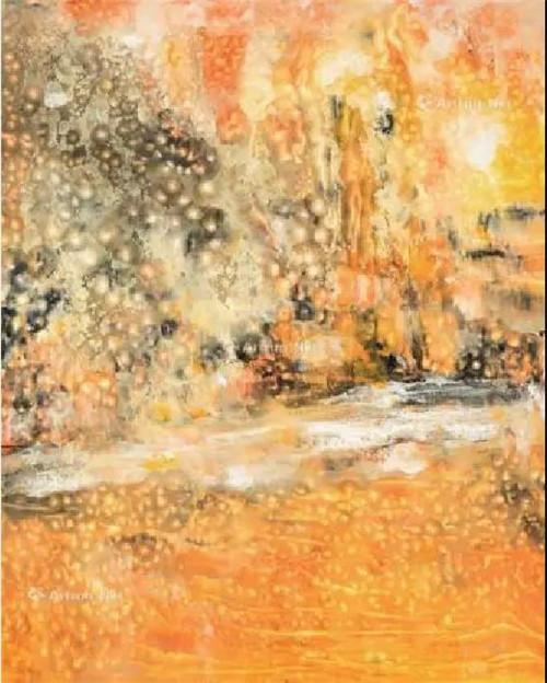著名艺术家王华明中国新当代油画作品——《流光溢彩》在北京翰海-翰海四季(第98期)成功拍卖