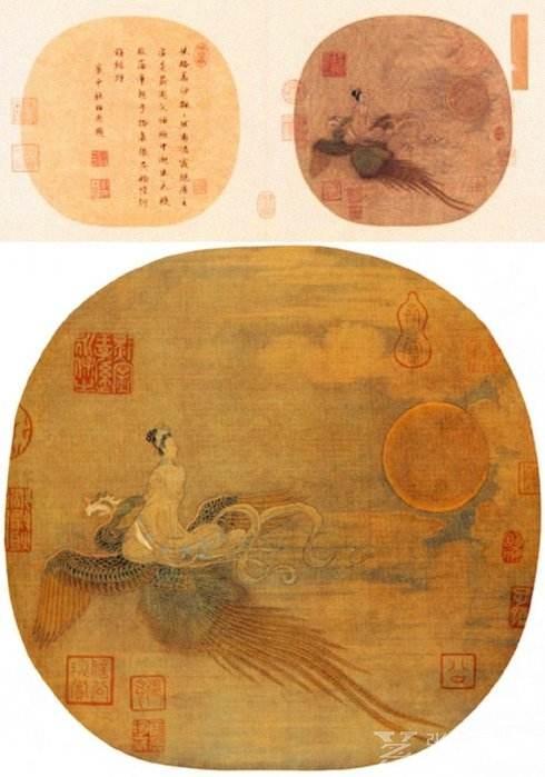 ▲《仙女乘鸾图》,无作者款印,故宫博物院藏