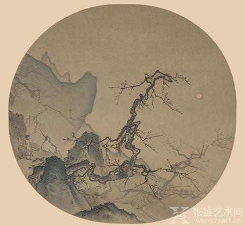 ▲《月下观梅图》,宋代·马远,大都会博物馆藏