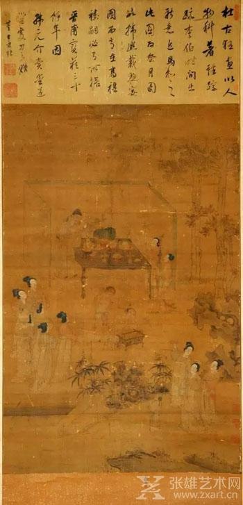 ▲《祭月图》,明·杜堇,中国美术馆藏