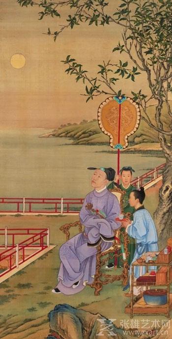 ▲《弘历观月图》,清,北京故宫博物院藏