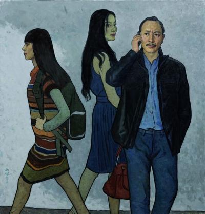 途中(油画) 100×96厘米 2015年 靳尚谊
