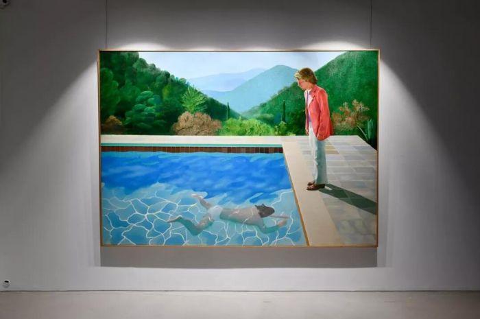 大卫‧霍克尼《艺术家肖像(泳池与两个人像)》巡展日程:香港:9月28及29日,伦敦:10月3至5日,洛杉矶:10月23至27日