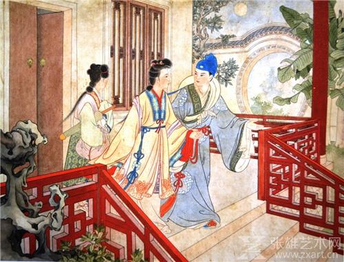 年画《陈三五娘》孔继昭、杨夏林合作  1956年