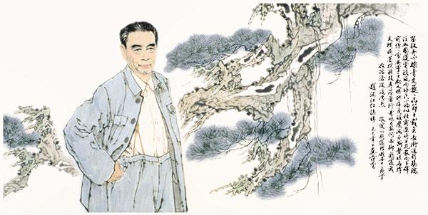 范曾先生创作的周总理像